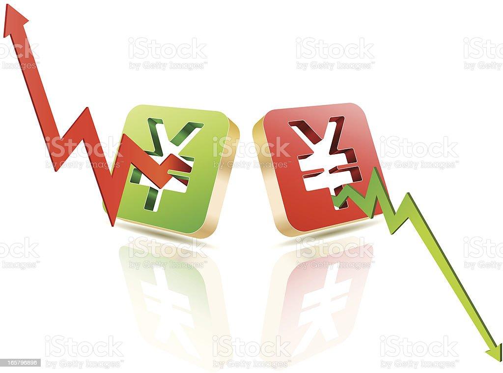 Japanese Yen royalty-free stock vector art