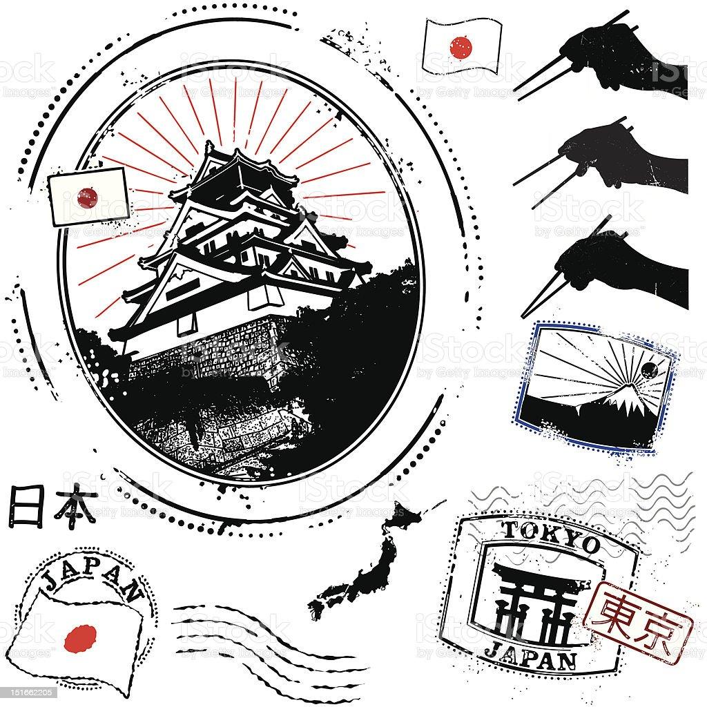 Japansese Super-san vector art illustration