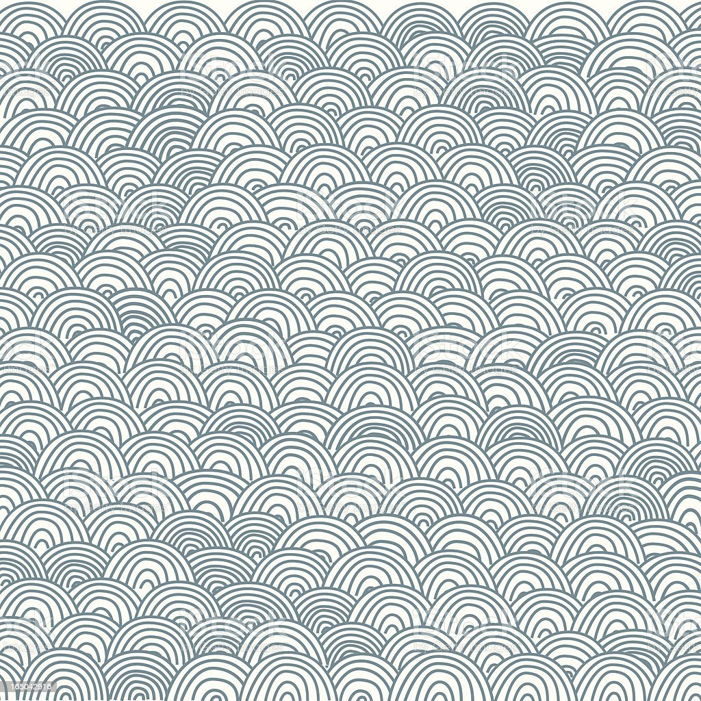 Japan-Style Wave Pattern royalty-free stock vector art