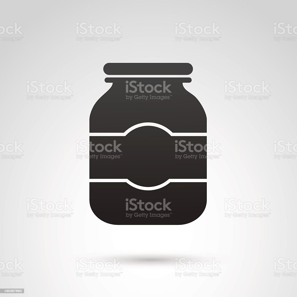 Jar icon isolated on white background. vector art illustration