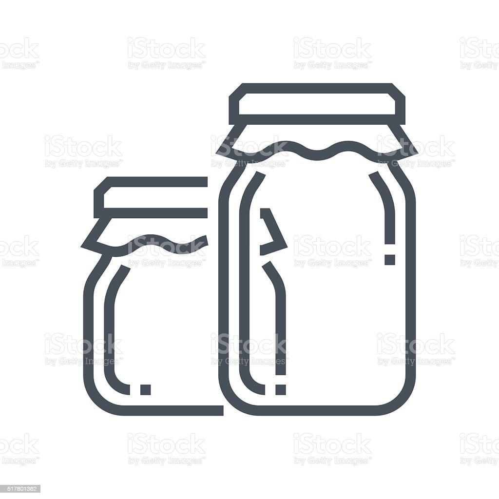 Jar icon vector art illustration