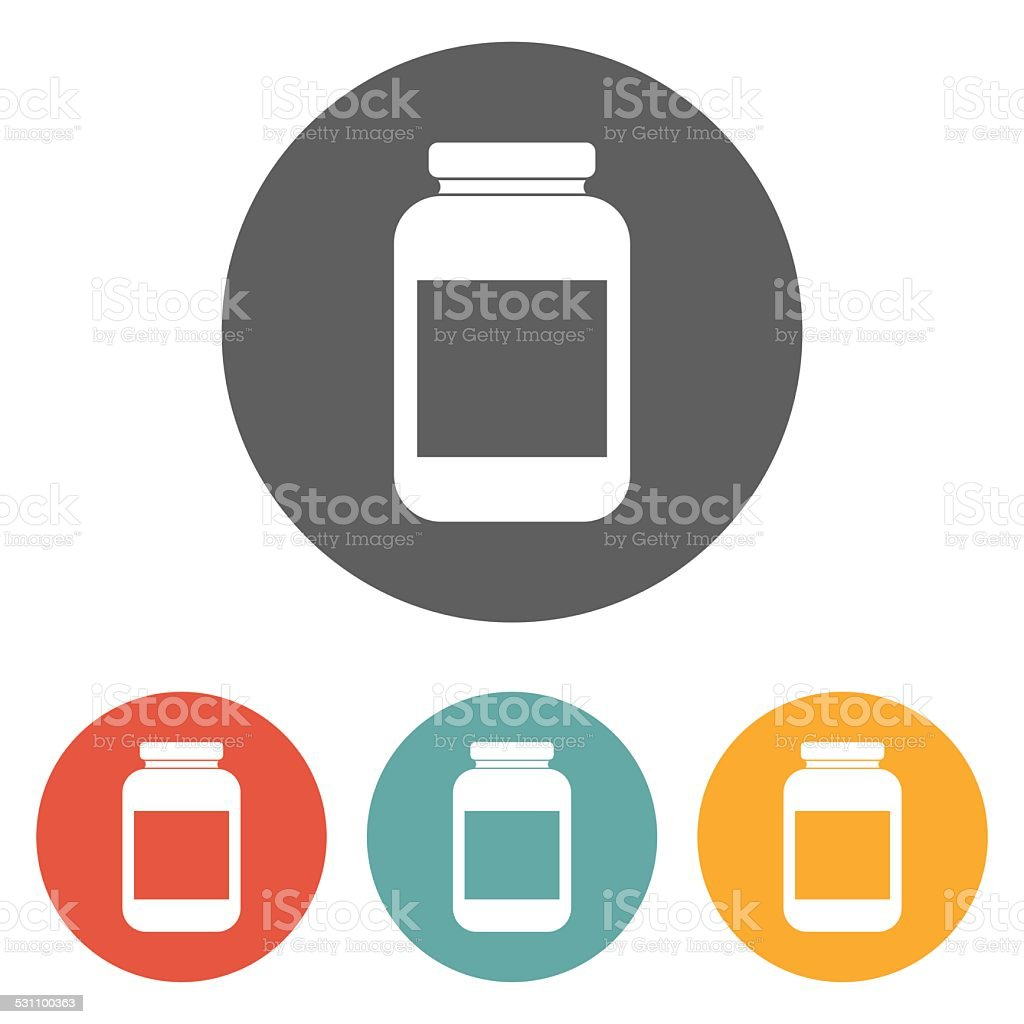 jar icon vector art illustration