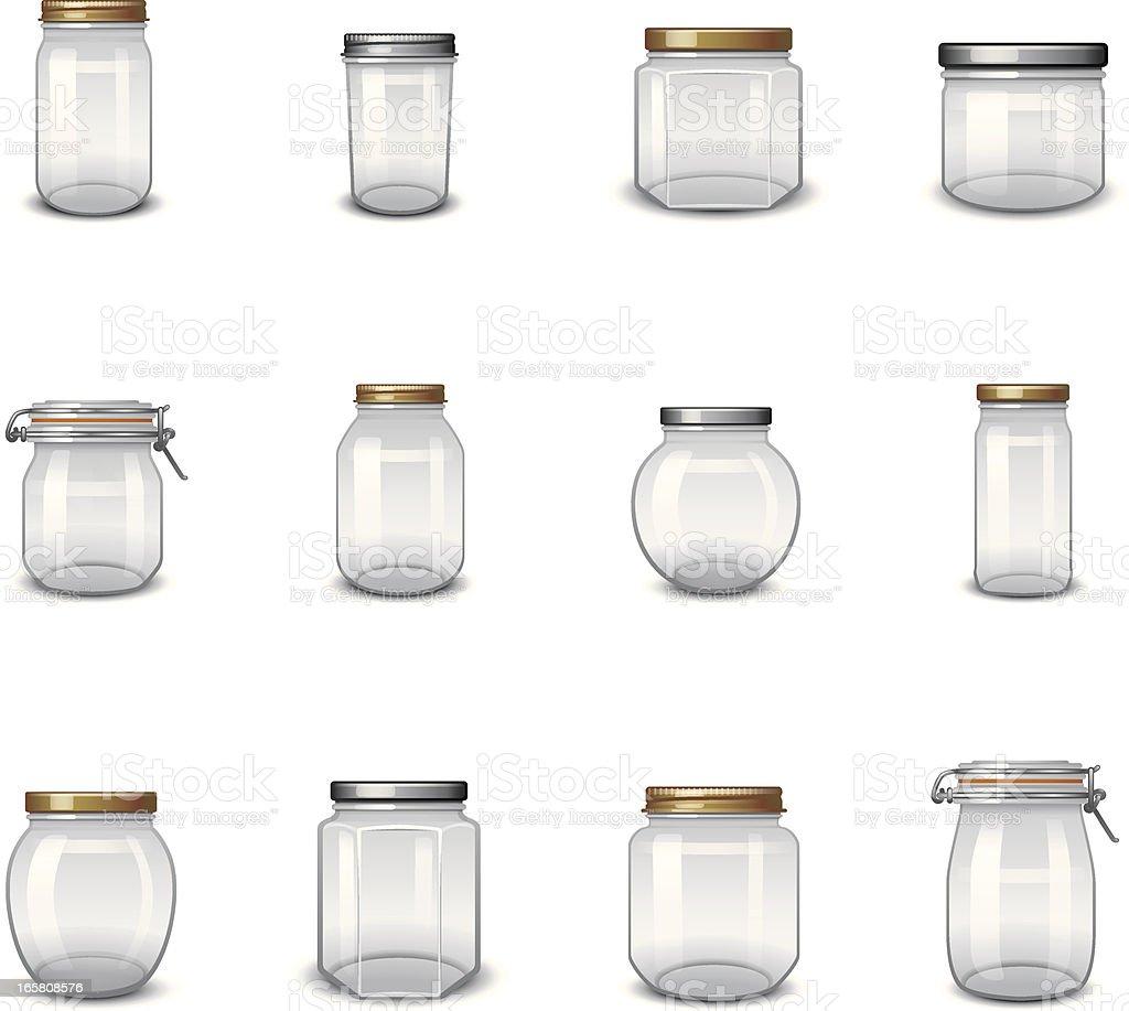 Jar Icons royalty-free stock vector art