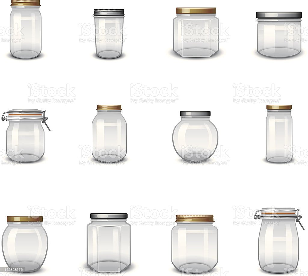 Jar Icons vector art illustration
