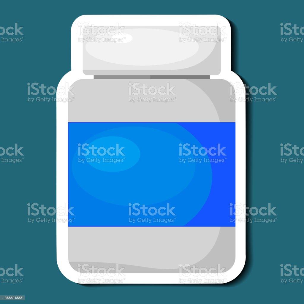 Jar of pills. eps10 royalty-free stock vector art