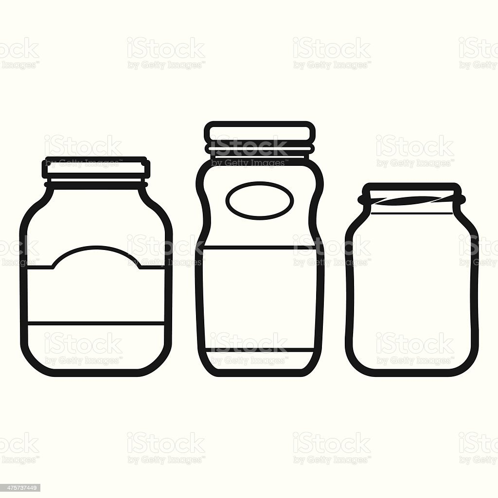 Jar Set vector art illustration