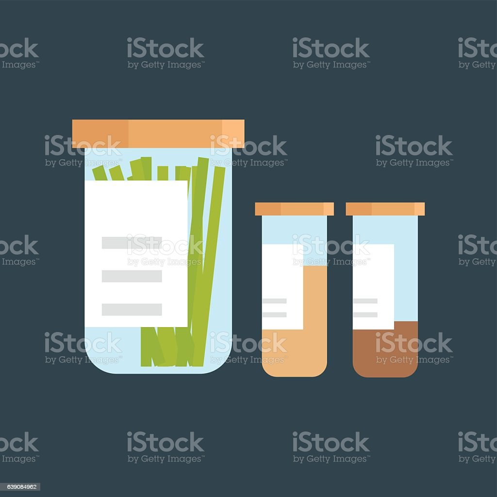 Jar with cooking spices vector illustration. vector art illustration