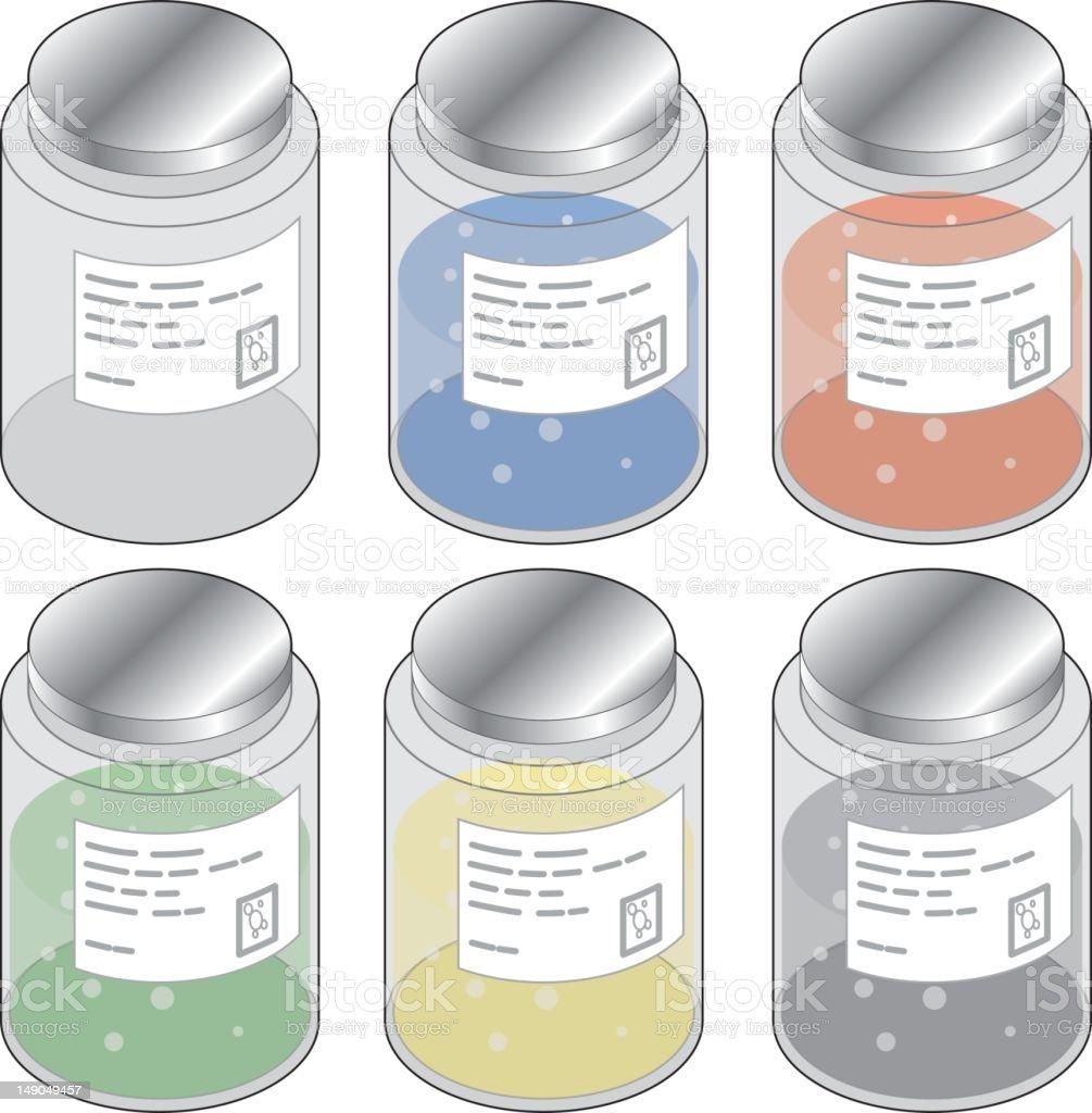 Jars royalty-free stock vector art