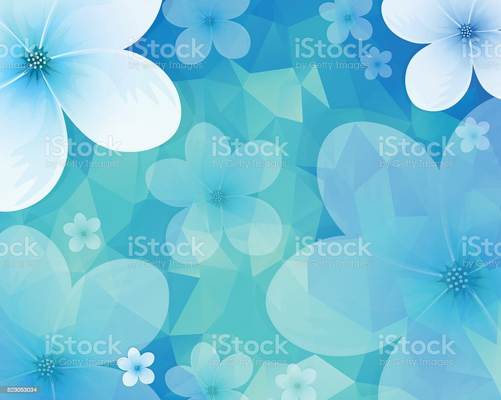 Jasmine Background vector art illustration