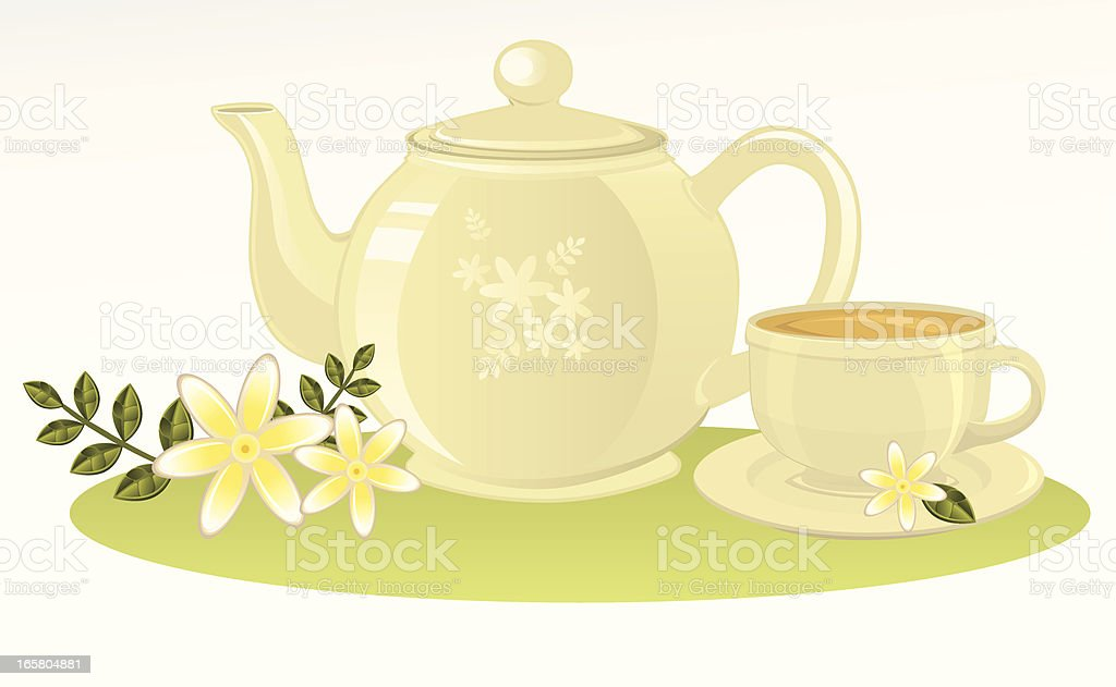 Jasmine Tea royalty-free stock vector art