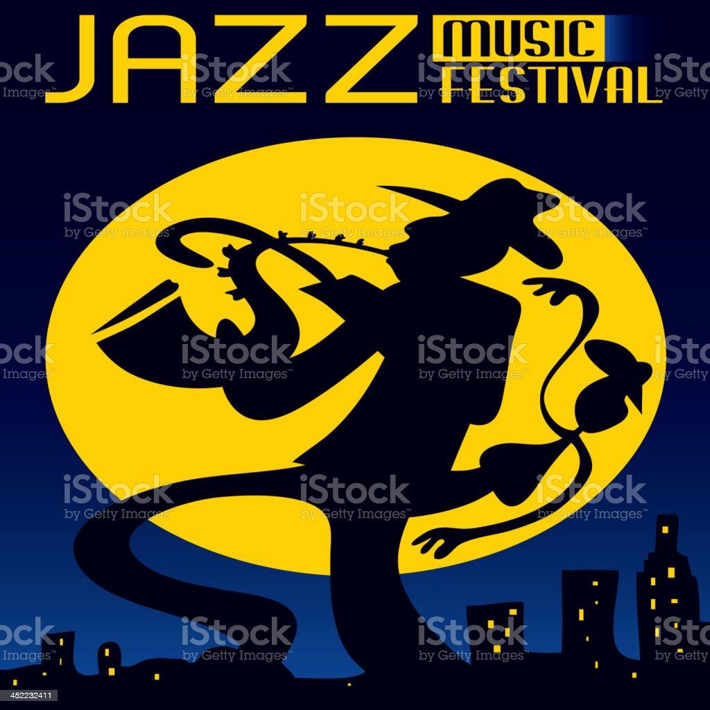 Jazz at night royalty-free stock vector art
