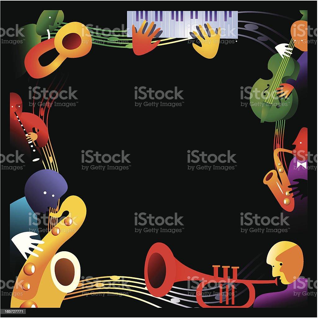 Jazz Background royalty-free stock vector art