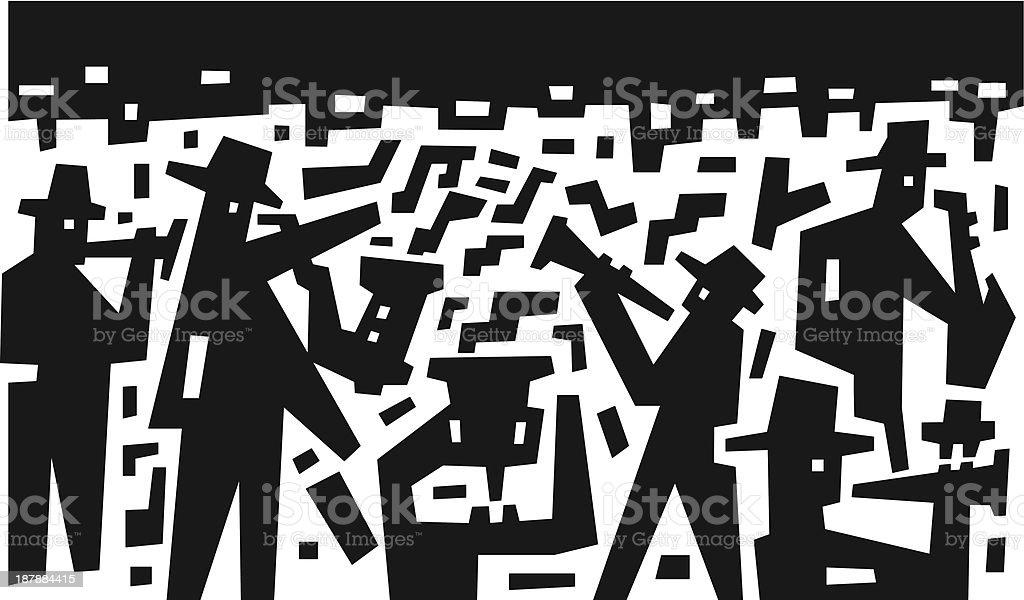 jazz band - abstract vector illustration royalty-free stock vector art
