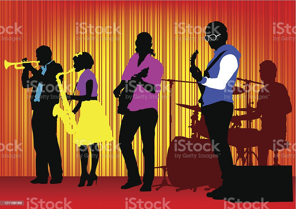 Jazz band royalty-free stock vector art