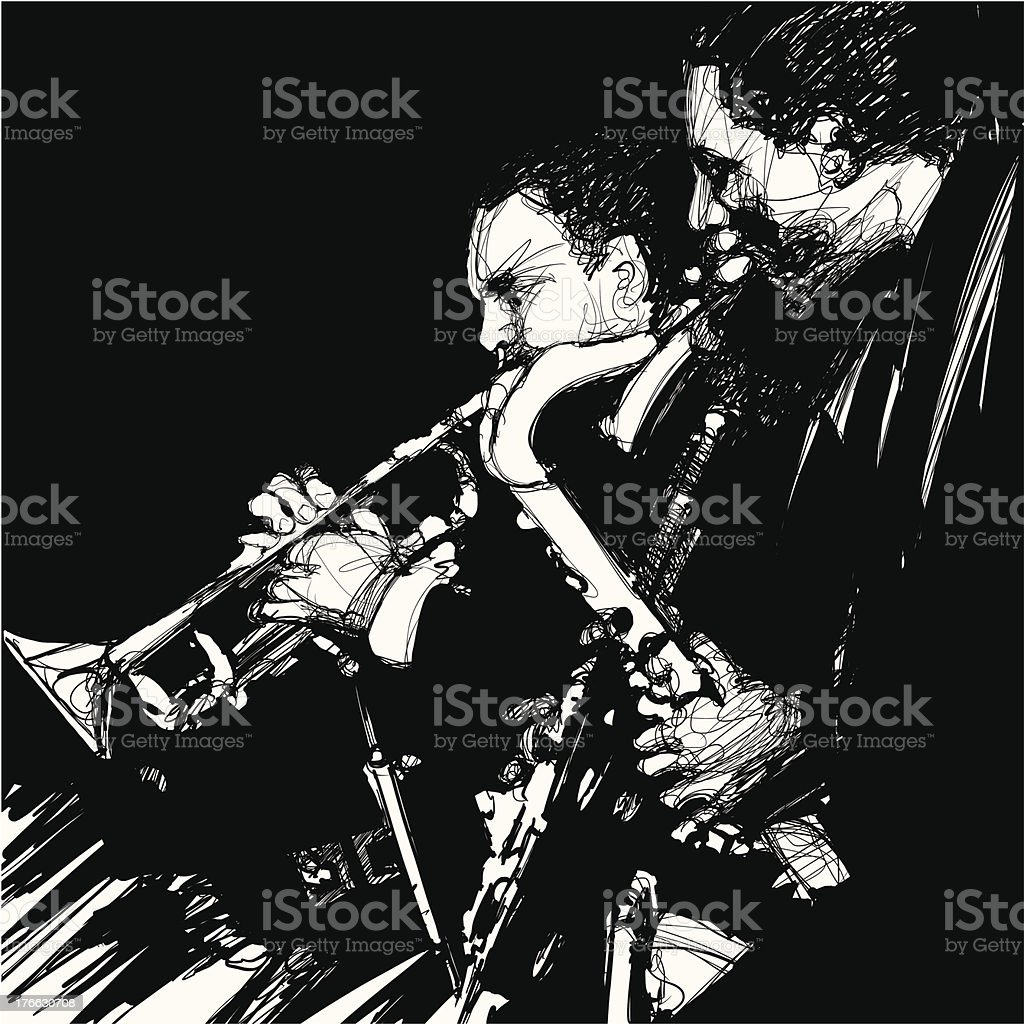 jazz brass musician royalty-free stock vector art