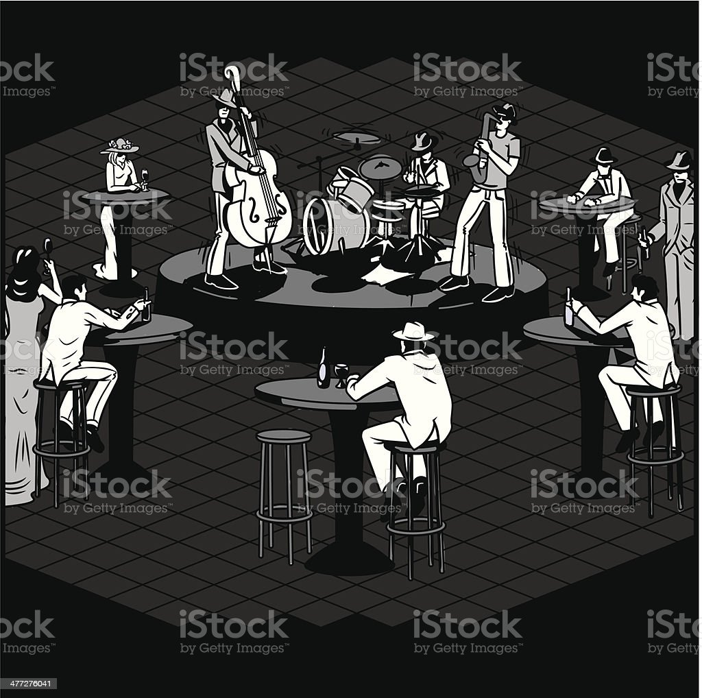 Jazz Club royalty-free stock vector art