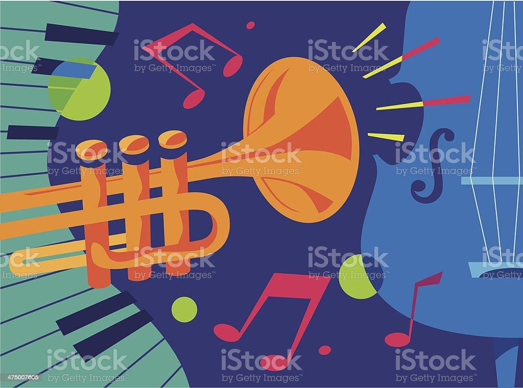 Jazz Collage vector art illustration