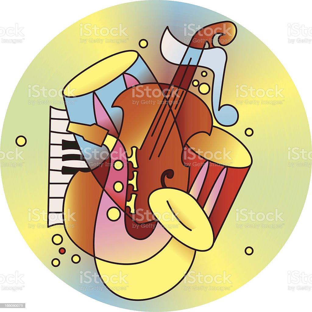 Jazz composition vector art illustration