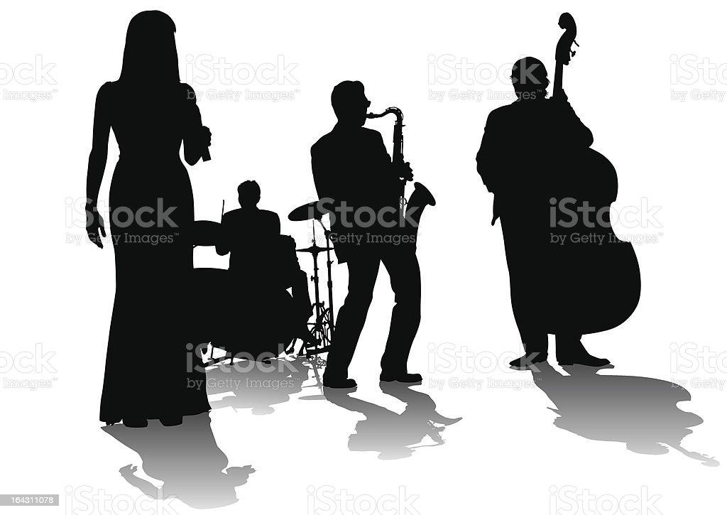 Jazz concert vector art illustration