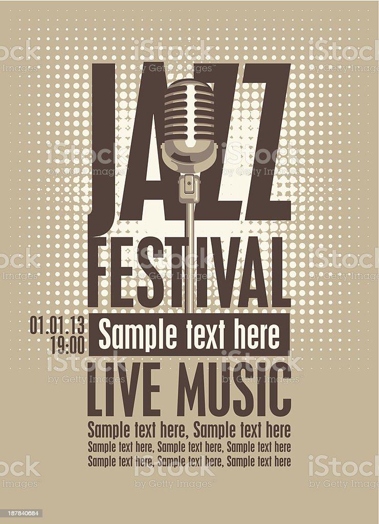 jazz festival royalty-free stock vector art