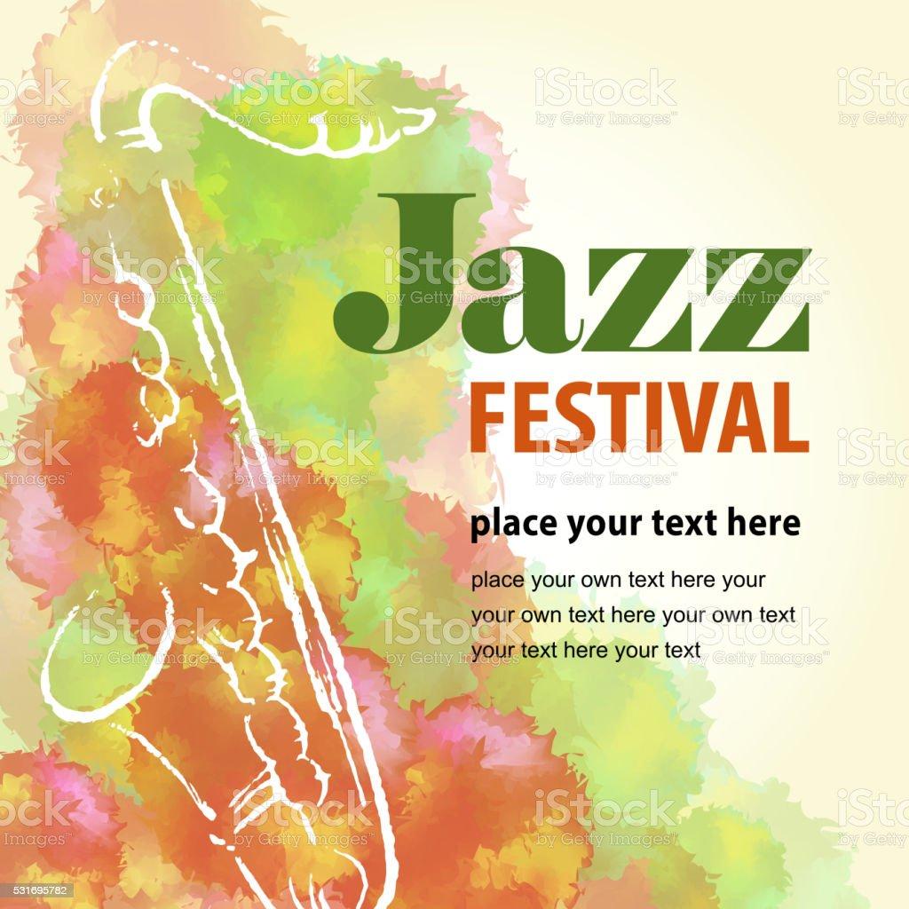 Jazz Festival vector art illustration