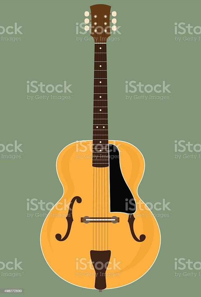 Jazz Guitar vector art illustration
