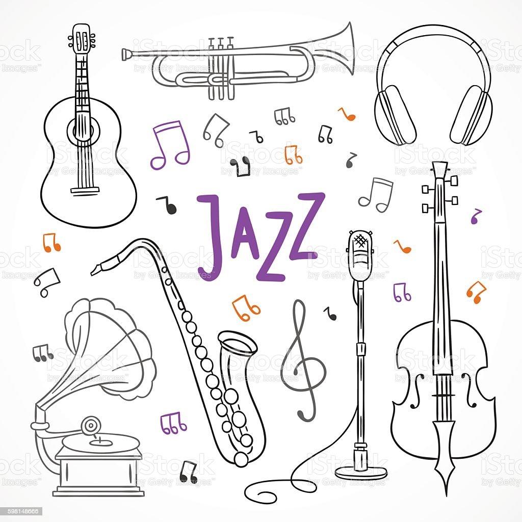 jazzmusicinstruments  Art  Jazz instruments Jazz