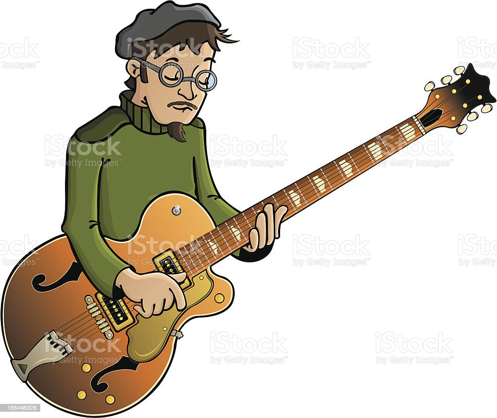 Jazz musician vector art illustration