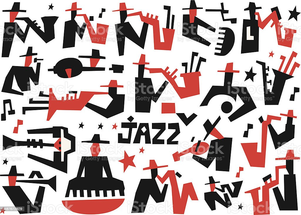 jazz musicians royalty-free stock vector art