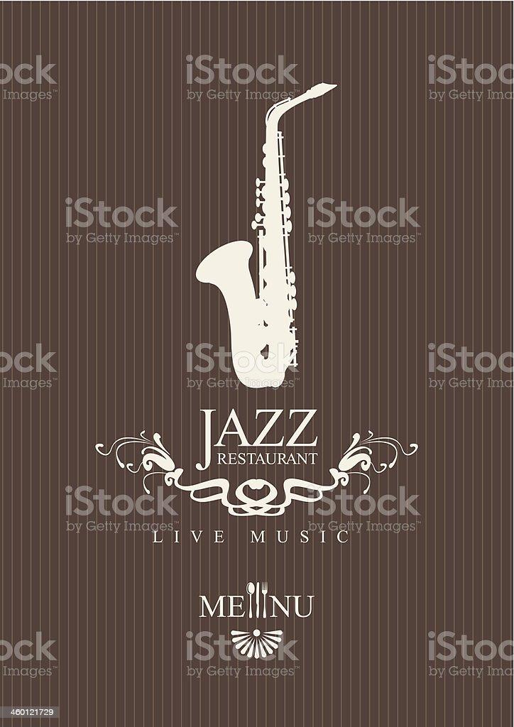 jazz restaurant vector art illustration