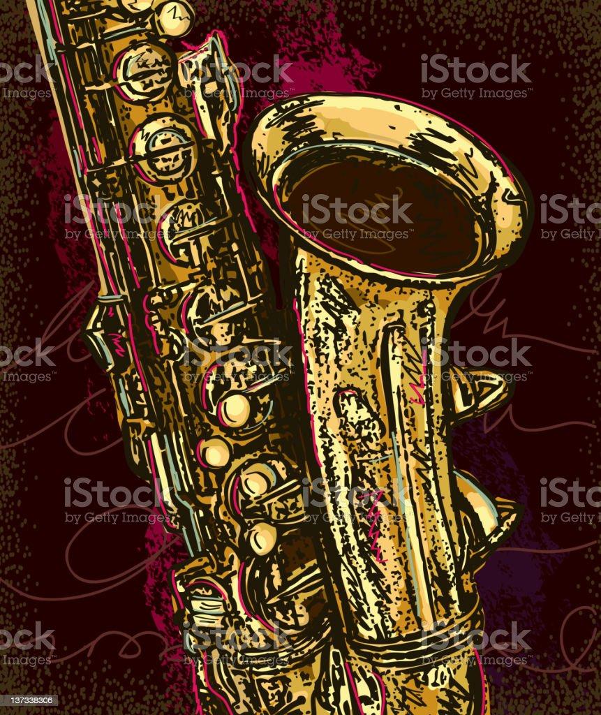 Jazz saxophone stock photo