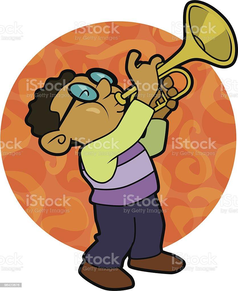 Jazz trumpet royalty-free stock vector art