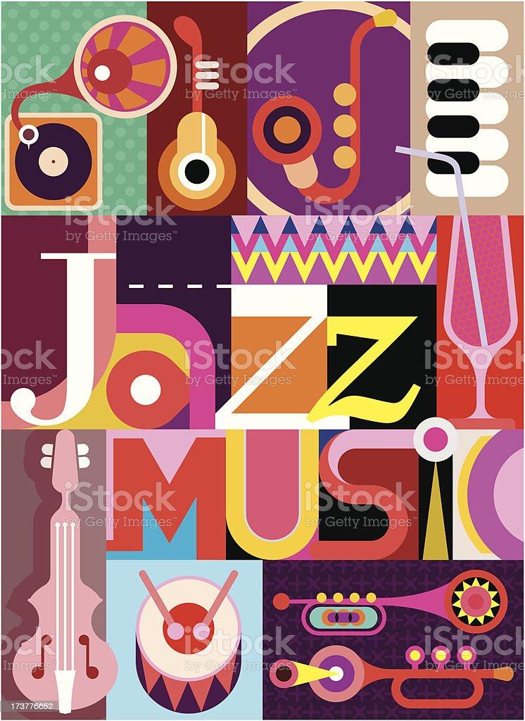 Jazz royalty-free stock vector art