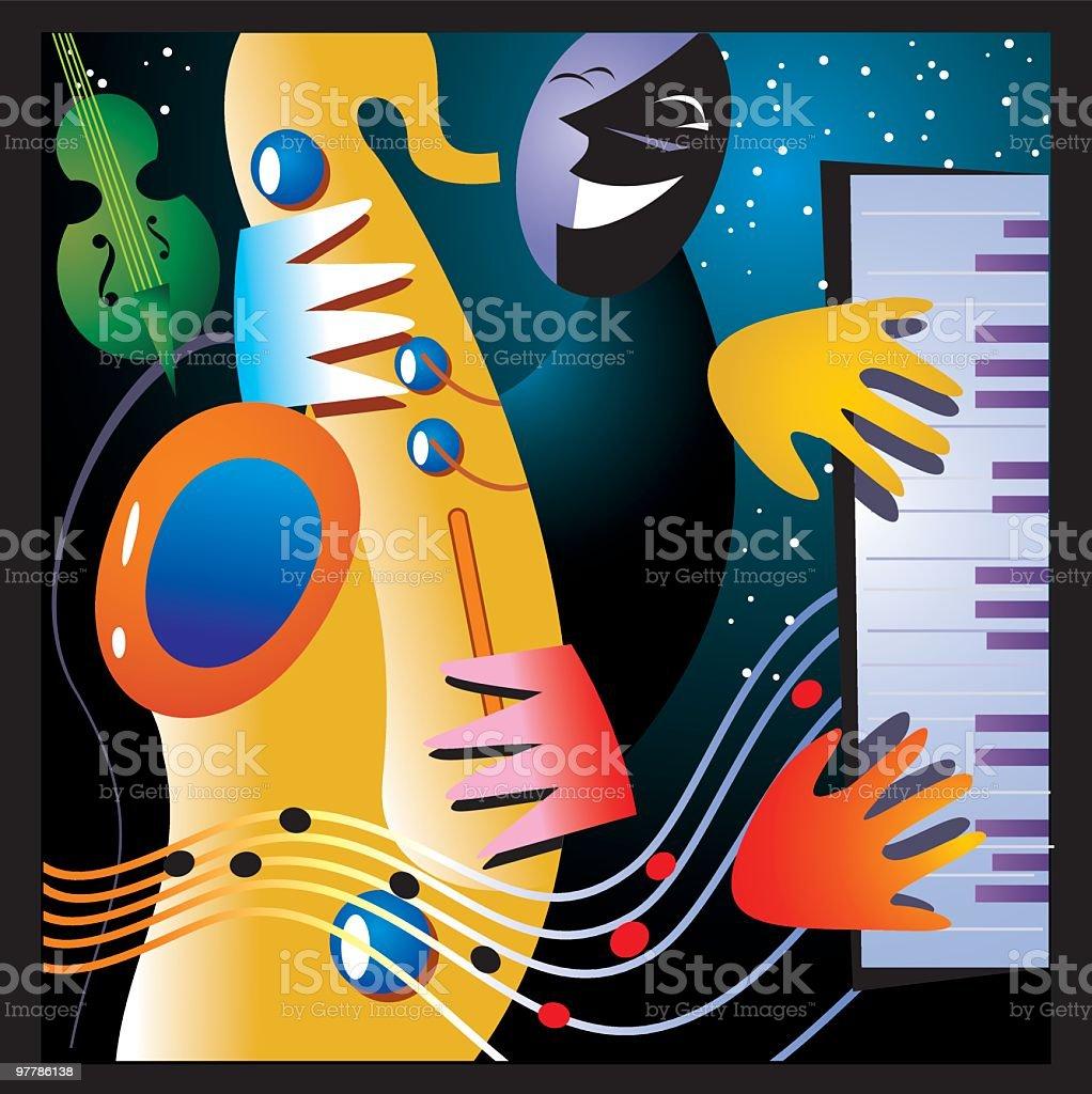 jazz! royalty-free stock vector art