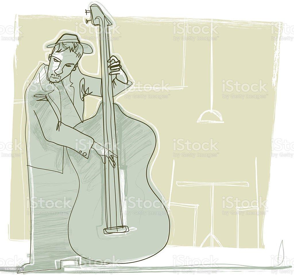 Jazzy bass royalty-free stock vector art