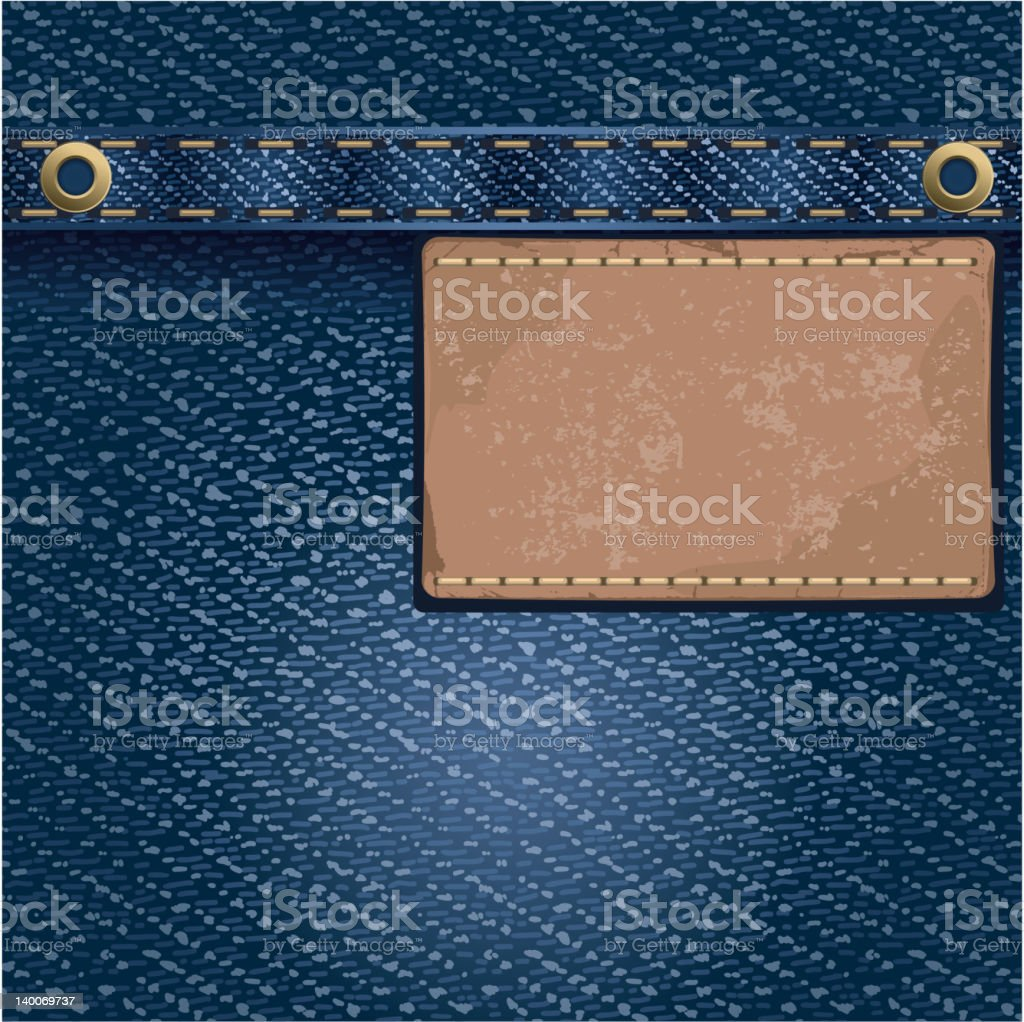 Jeans background royalty-free stock vector art