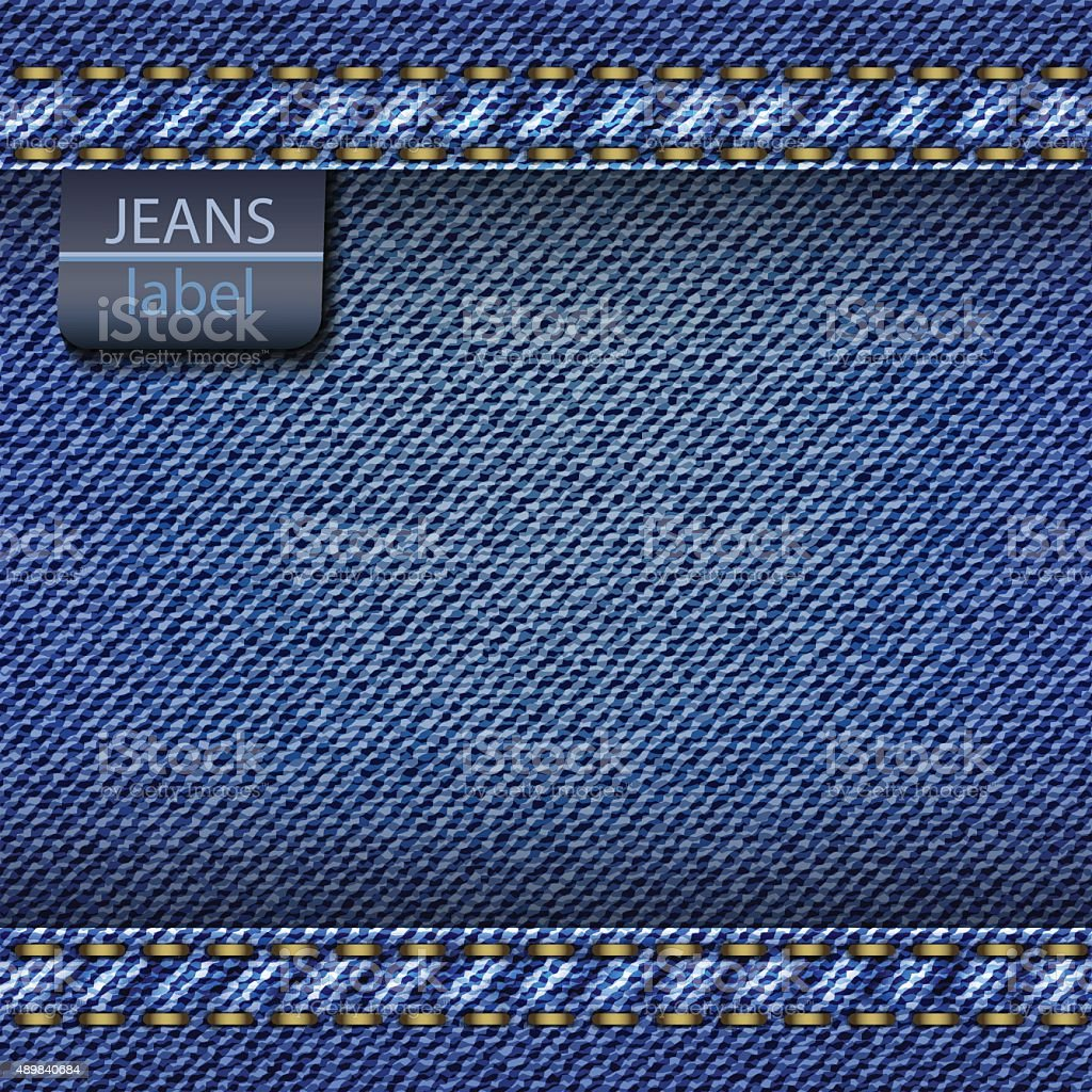 Jeans background. Vector vector art illustration
