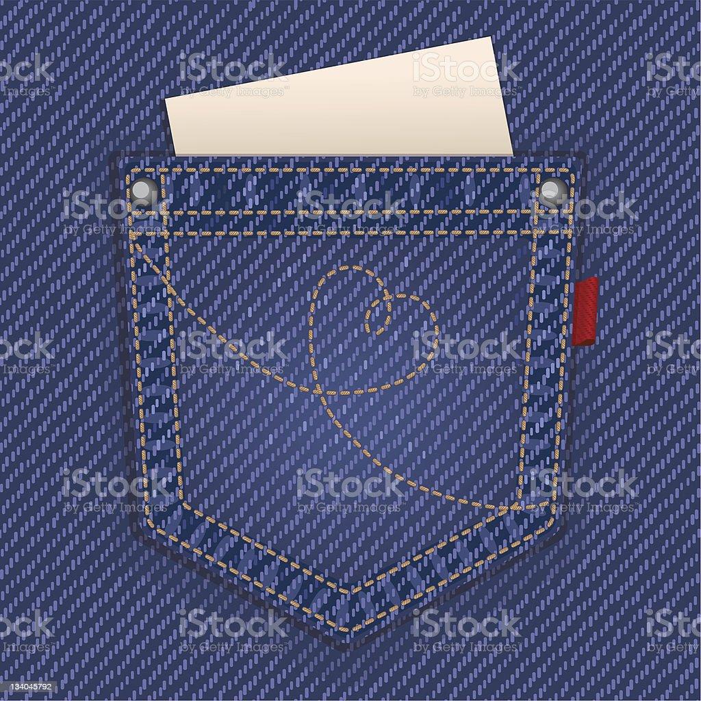 Jeans pocket royalty-free stock vector art