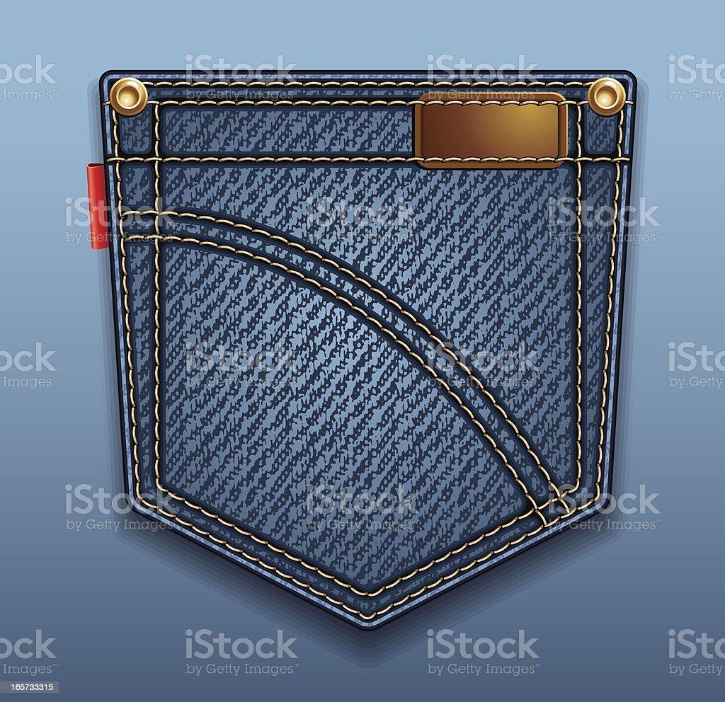 Jeans pocket vector art illustration