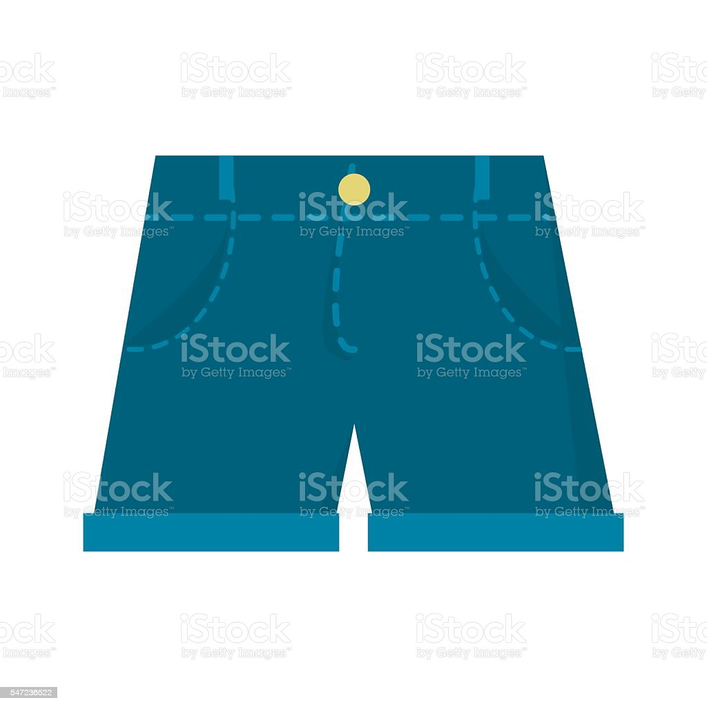 Jeans shorts vector illustration. vector art illustration