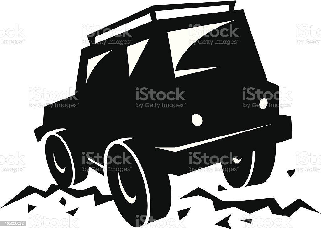 Jeep vector art illustration