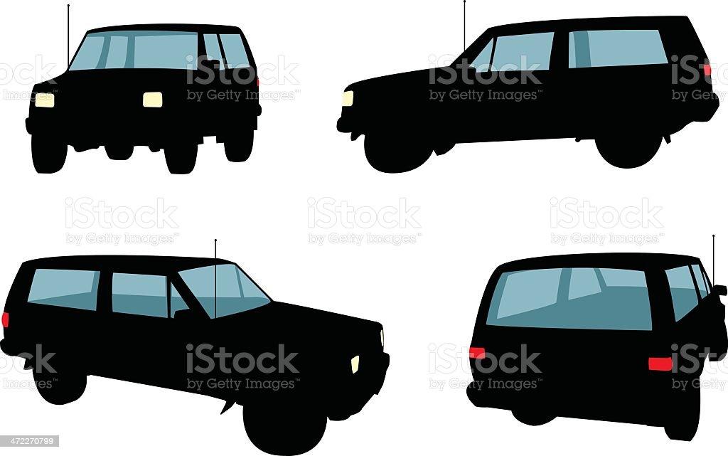 Jeeps [vector] vector art illustration