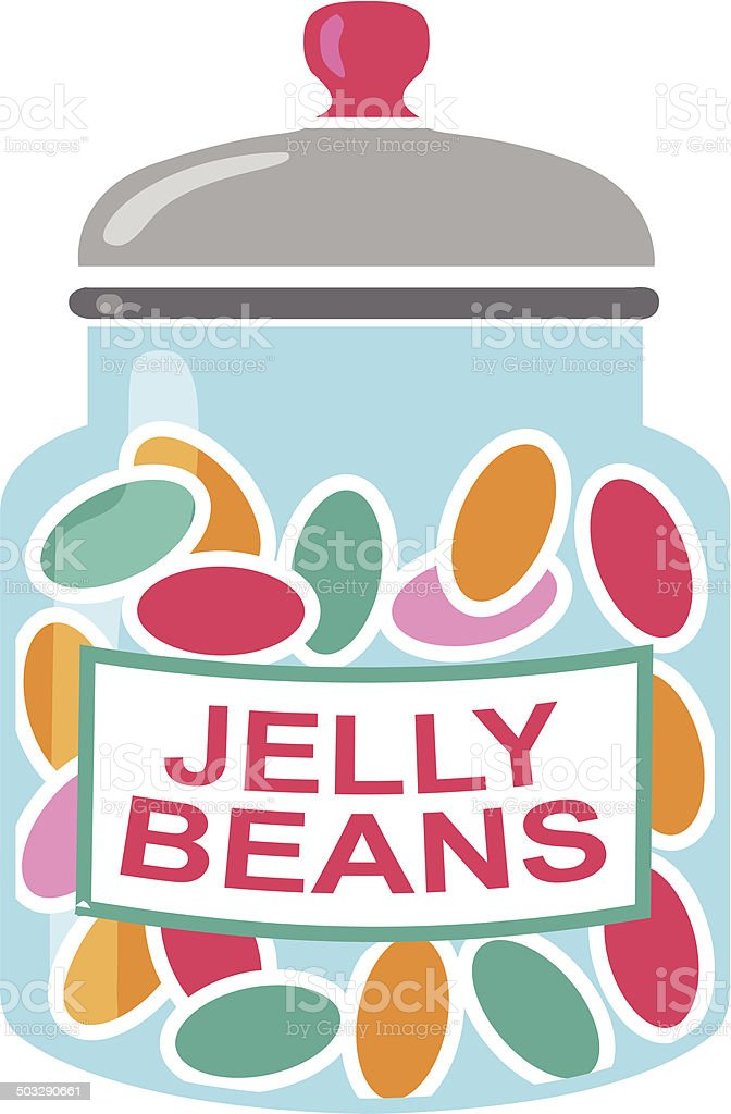jelly bean jar vector art illustration