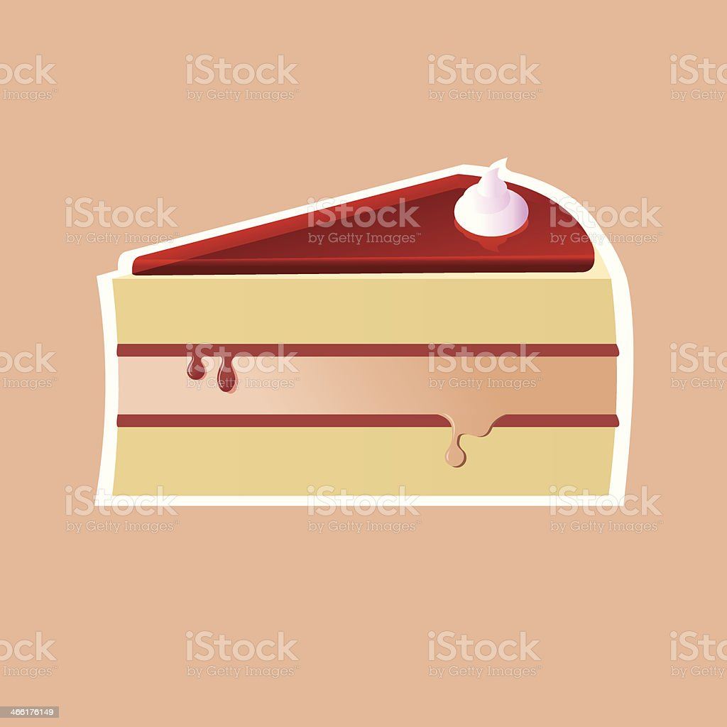 Jelly cake illustration royalty-free stock vector art