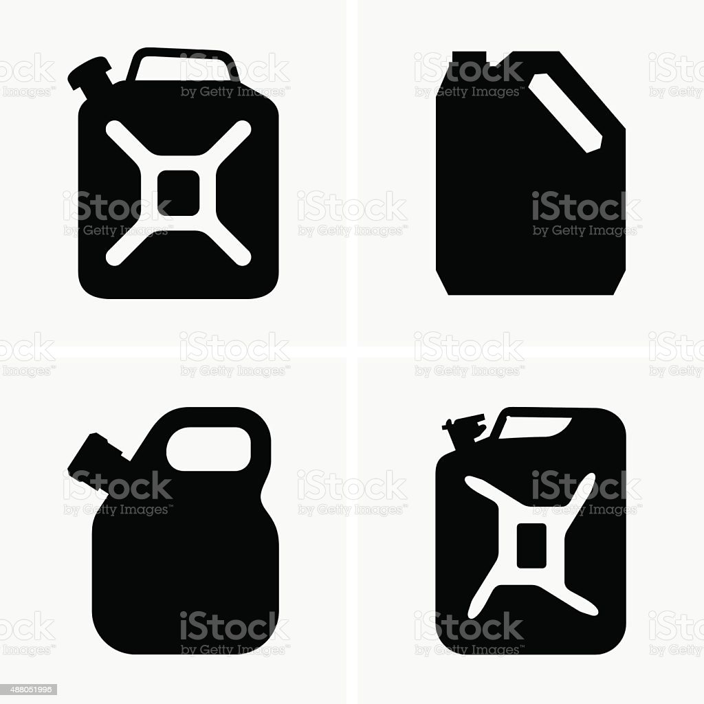 Jerrycans vector art illustration