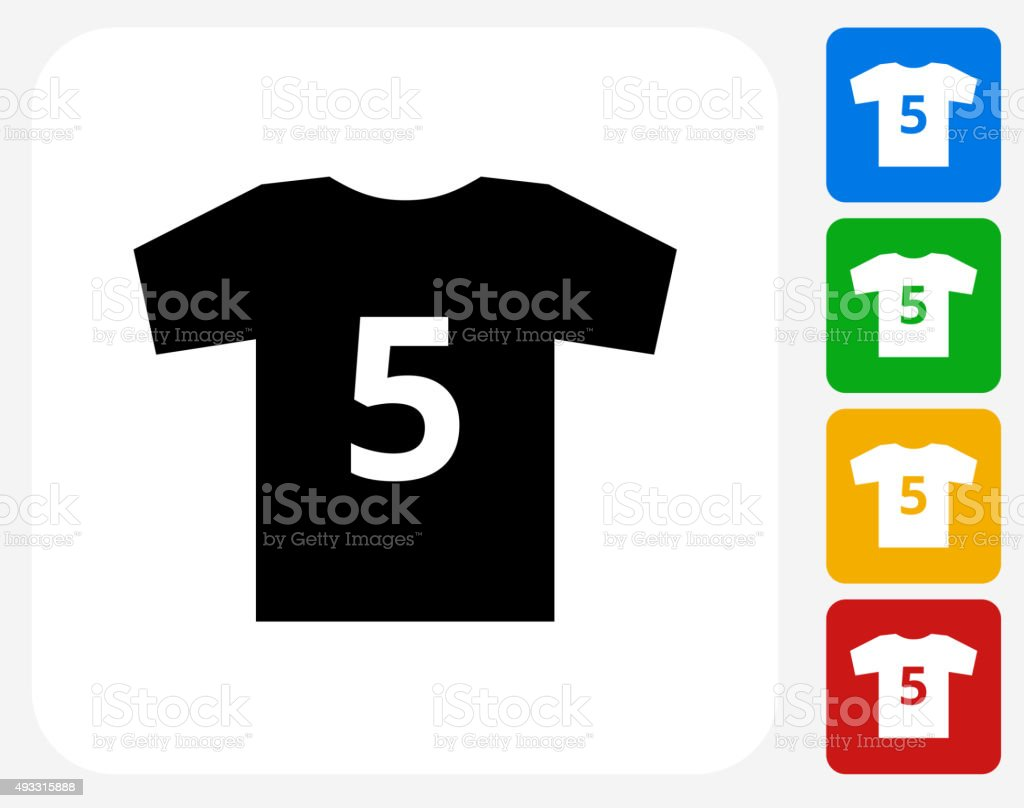 Jersey Icon Flat Graphic Design vector art illustration