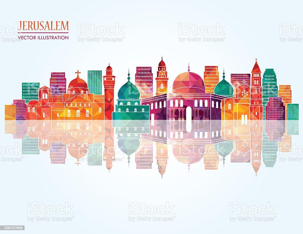 Jerusalem skyline. Vector illustration vector art illustration
