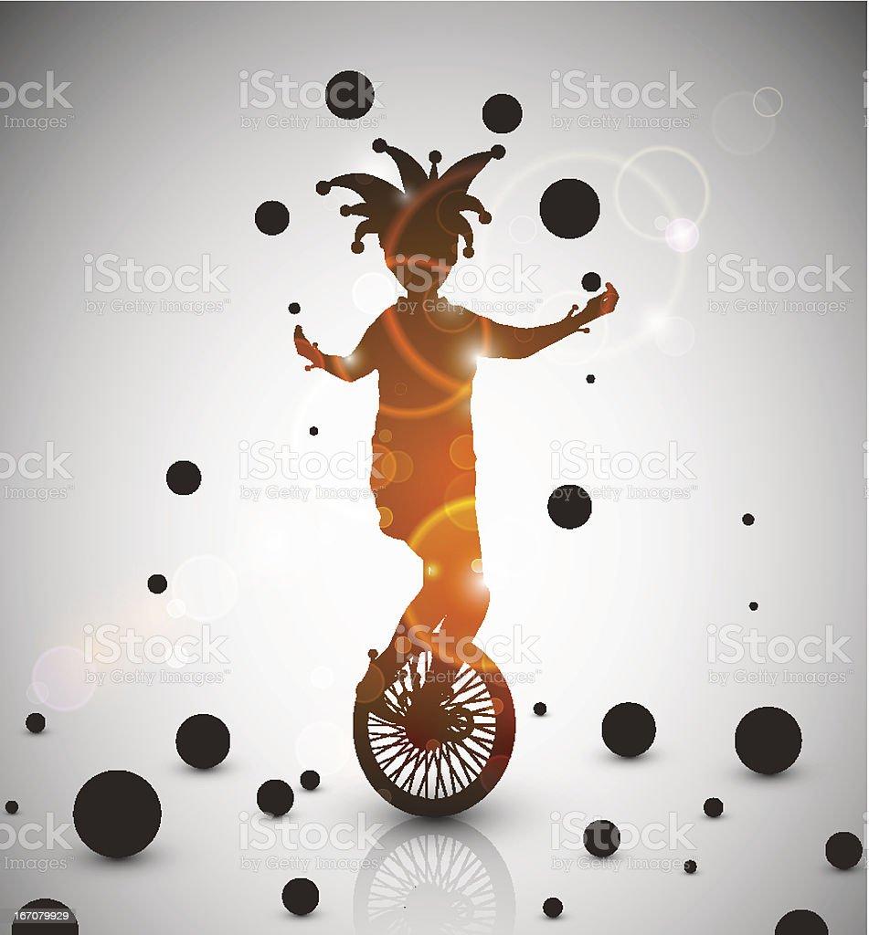 Jester juggler royalty-free stock vector art