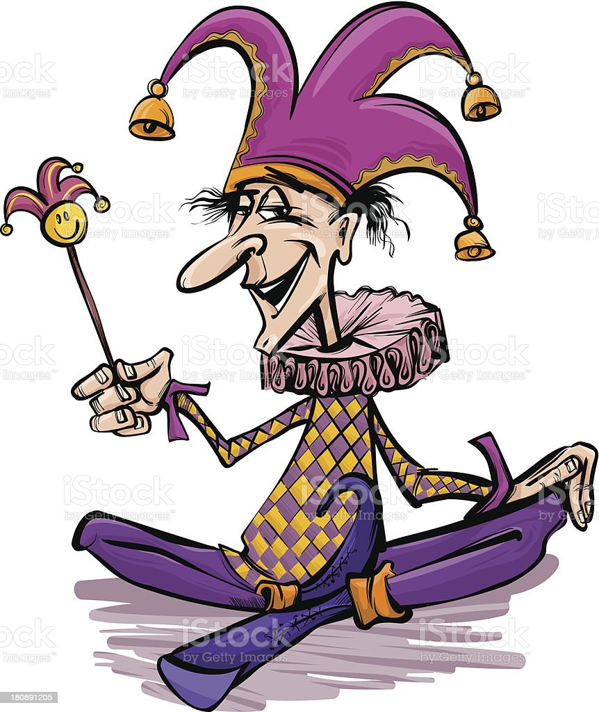 jester or joker cartoon illustration royalty-free stock vector art