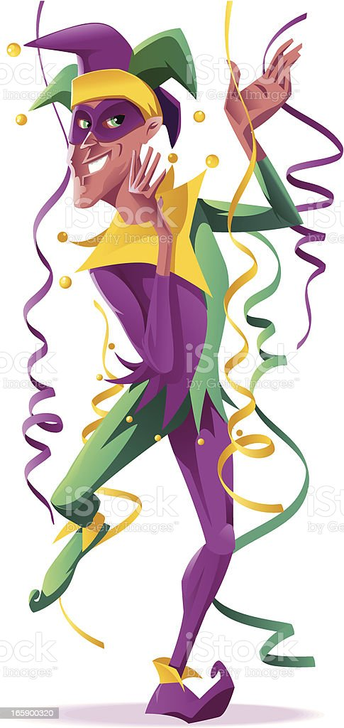 Jester royalty-free stock vector art